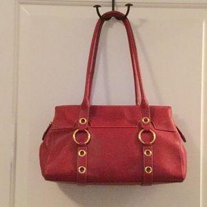 Maxx New York Red Shoulder Bag Medium Size
